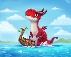 #2537. Dragon Boat - Illustration
