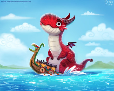 #2537. Dragon Boat - Illustration