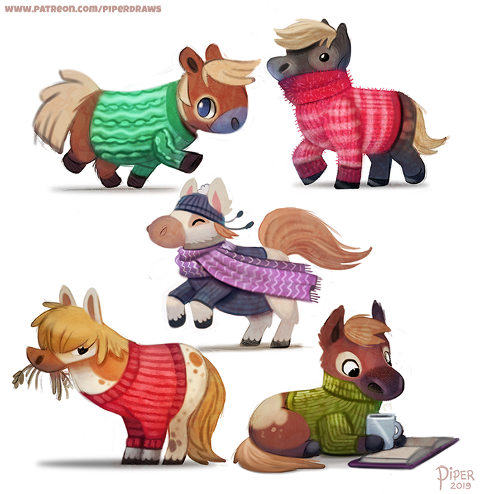 #2551. Shetland Ponies - Designs