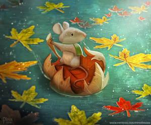 #2553. Leaf Boating - Illustration
