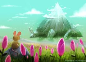 #2561. Walking Mountain - Illustration