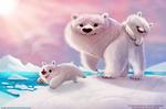#2585. Polar Bears - Illustration