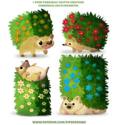 #2599. Hedgehogs - Character Designs