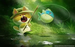 #2609. Fishing Cat - Illustration