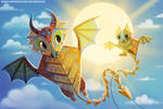 #2622. Kite Dragons - Illustration
