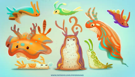 #2626. Sea Slugs - Design