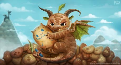 Potato Dragon - Patreon HQ Wallpaper