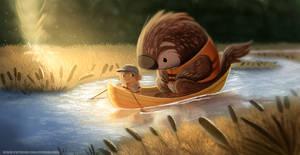 #2637. Canoeing - Illustration