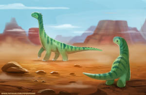 #2644. Apatosaurus - Illustration