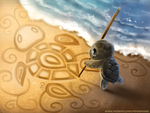 #2685. Sand Doodling - Illustration