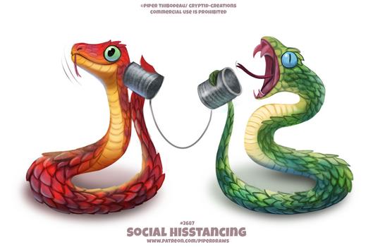 #2687. Social Hisstancing - Word Play