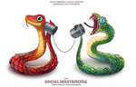 #2687. Social Hisstancing - Word Play by Cryptid-Creations