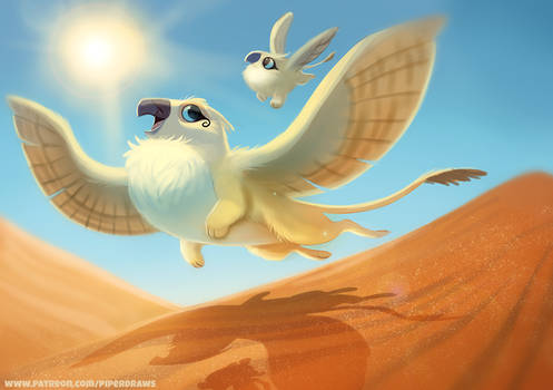 #2691. Desert Griffon - Illustration