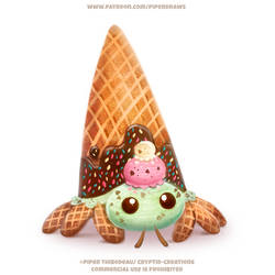 #2716. Hermit Crab Ice Cream - Illustration