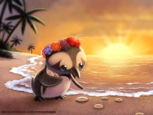 #2734. Hawaiian Penguin - Illustration