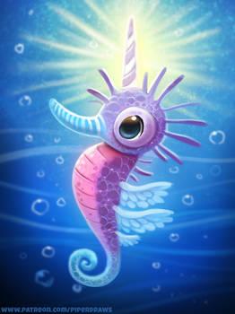 #2736. Seaunicorn - Illustration