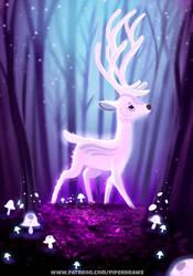 #2745. Glowing Deer - Illustration