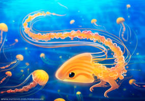 #2746. Jellyfish Dragon - Illustration