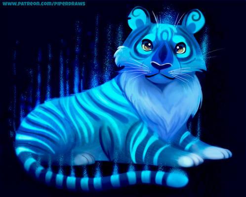 #2748. Glowing Tiger - Illustration