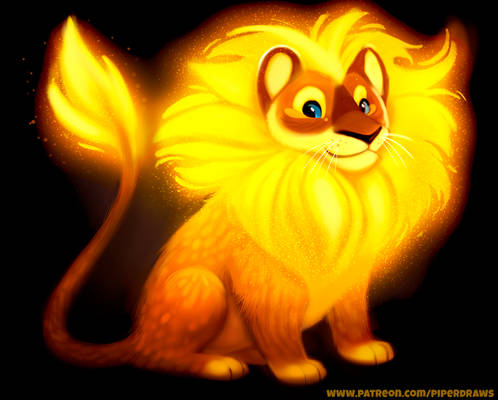 #2749. Glowing Lion - Illustration
