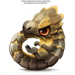 #2755. Armadillo Lizard - Illustration