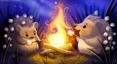 Hedgehog Campfire - Patreon HQ Wallpaper