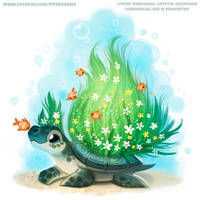 #2781. Mossy Turtle - Illustration