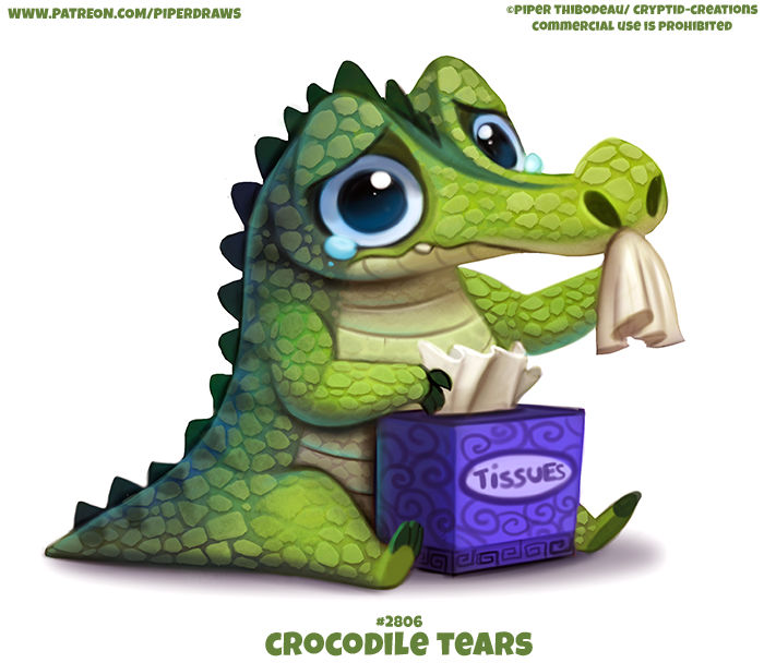 2806. Crocodile Tears - Word Play by Cryptid-Creations on DeviantArt