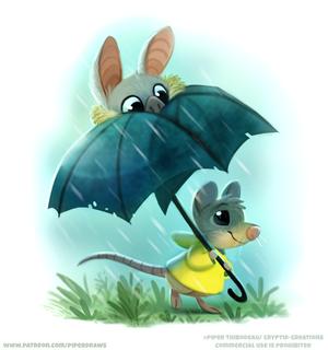 #2833. Batbrellla - Illustration