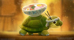 Patreon HQ Wallpaper - Ramen Tortoise
