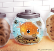 #2918. Goldfish in a Cookie Jar - Illustration