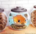 #2918. Goldfish in a Cookie Jar - Illustration
