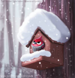 #2929. Birdhouse - Illustration