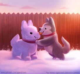 #2933. Snow Dog - Illustration