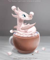 #2934. Hot Cocoa Dragon - Illustration