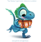 #2953. Dino Eggnog - Illustration