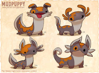 #2981. Mudpuppy - Exploration Sketches