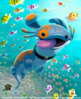 #2983. Mudpuppy - Illustration