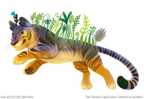 #2987. Floral Tiger - Illustration