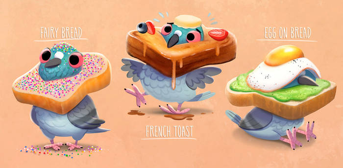3005. Bread Fashion - Illustration
