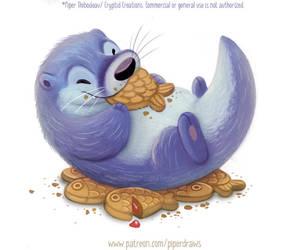 3008. Otter Taiyaki - Illustration