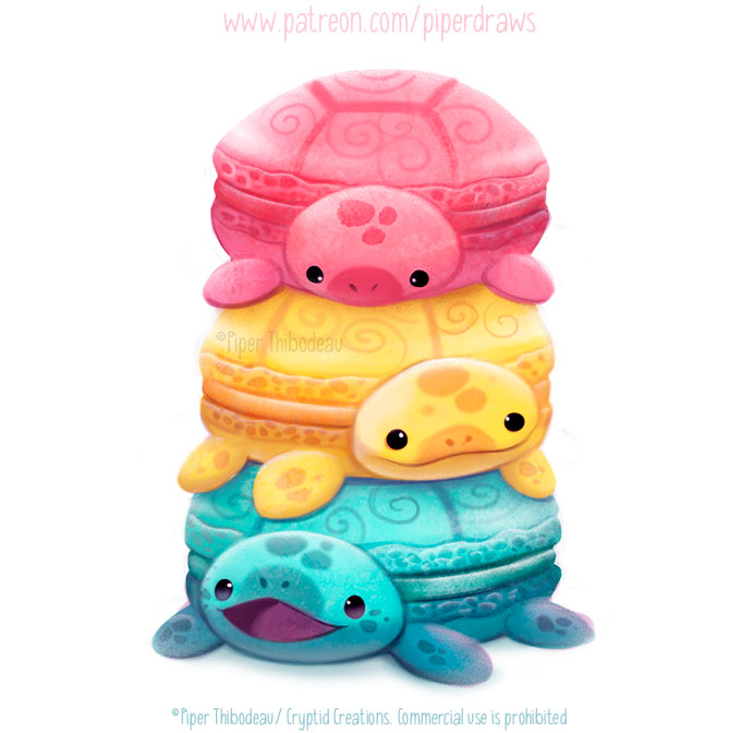 3012. Macaron Turtles - Illustration