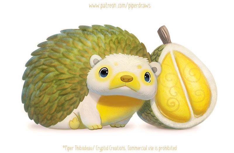 3013. Durian Hedgehog - Illustration