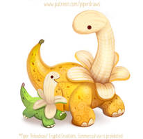 3016. Bananasaurus - Illustration