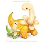 3016. Bananasaurus - Illustration