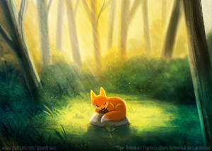 3028. Fox in a Forest - Illustration