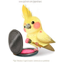 3030. Cockatiel Blush - Illustration