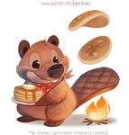 3035. Breakfast Beaver - Illustration
