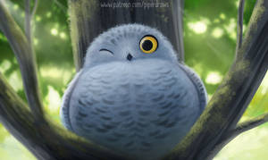 3040. A Not So Snowy Owl - Illustration
