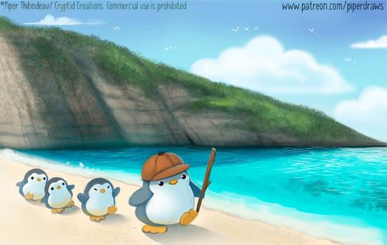3043. Penguin March - Illustration